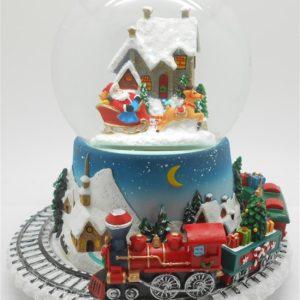 Sfera natalizia con animazione