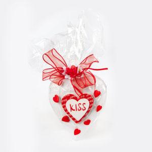 San Valentine's heart kiss