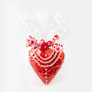 San Valentine's heart red with beads