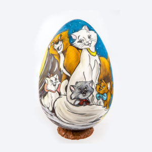 Hand-painted egg Aristocats